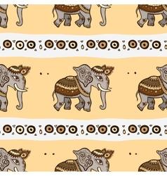 elephants ethnic seamless background vector image
