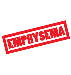 Emphysema stamp typ vector