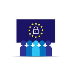 Gdpr general data protection regulation eu map vector