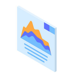 graph panel icon isometric style vector image