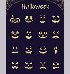 Halloween silhouette pumpkins vector