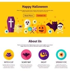 Happy Halloween Web Design Template vector image