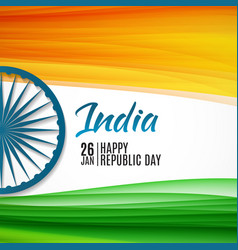 happy india republic day26 january vector image