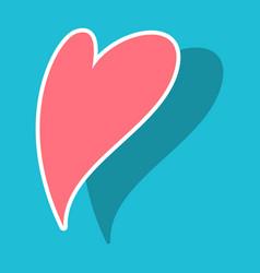 Heart icon sticker love symbol valentines day vector