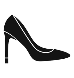 High heel shoe icon simple style vector image