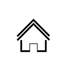 home icon black on white vector image