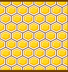 honey comb pattern cells background vector image