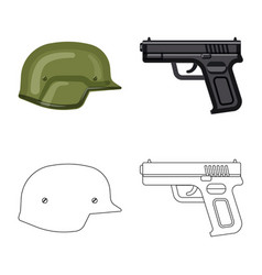 Isolated object weapon and gun sign collection vector