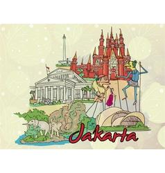 Jakarta doodles vector