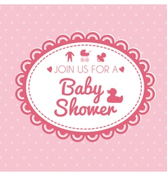 Label of baby shower vector