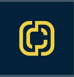 letter c initial logo vector image