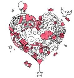 Love doodle 2 vector