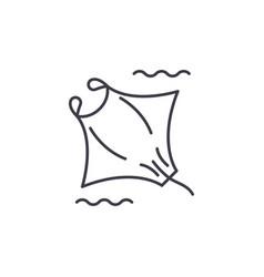 manta line icon concept manta linear vector image