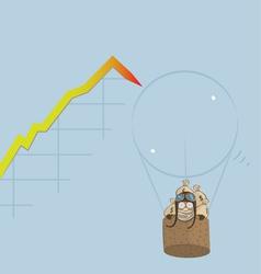 Market Bubble Burst vector