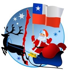 Merry Christmas Chile vector