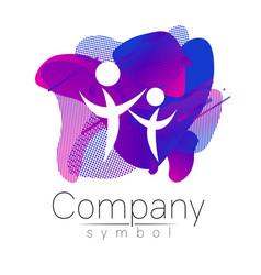 Modern head logo of company brand profile human vector