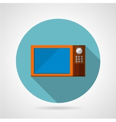 Modern microwave oven flat icon vector
