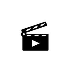 movie clapper open icon vector image