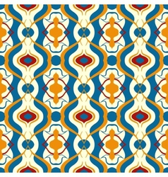 Multicolor pattern with Arabic motif vector