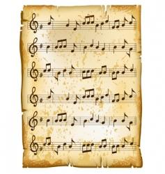 music sheet vector image
