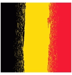 National Grunge Flag of Belgium vector image