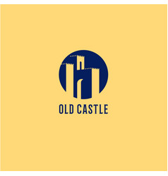 Old castle fortress emblems vector
