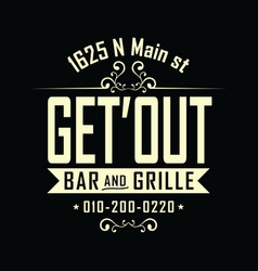 paris bar and grille design vector image