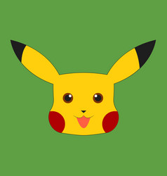 Pikachu on white background vector
