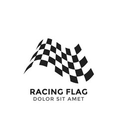 Racing flag graphic design template vector