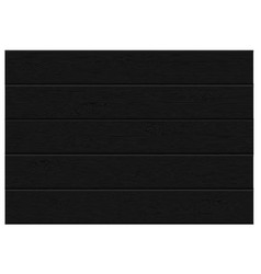 Realistic black wood plank top view pattern vector