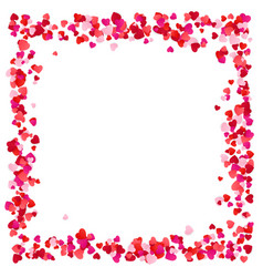 red paper hearts frame background hearts frame vector image