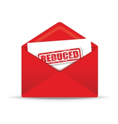 reduced red envelope vector image