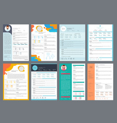 resume design corporate business profile cv for vector image