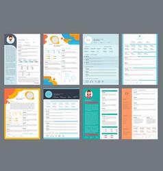 resume design corporate business profile cv vector image