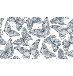 seamless pattern with ornate doodle hand drawn vector image