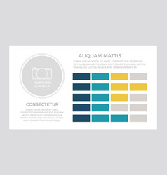 set dark blue turquoise and yellow elements vector image