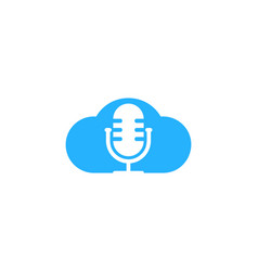 sky podcast logo icon design vector image