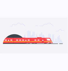 suburban train vector image