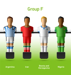 Table football foosball players vector