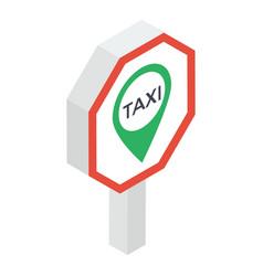 taxi location vector image