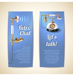 Telephone Banners Vertical vector
