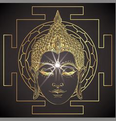 The sri yantra or sri chakra form mystical vector