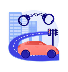 Traffic crime abstract concept vector