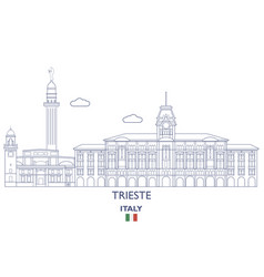 trieste city skyline vector image