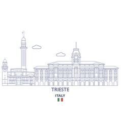 trieste city skyline vector image