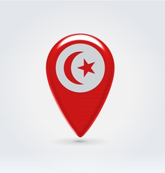 Tunisian icon point for map vector