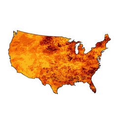Usa fire map vector