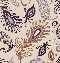 various feather pattern vector image