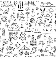Wild field nature seamless pattern for your vector