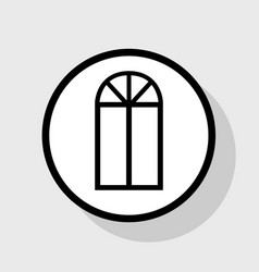 window simple sign flat black icon in vector image